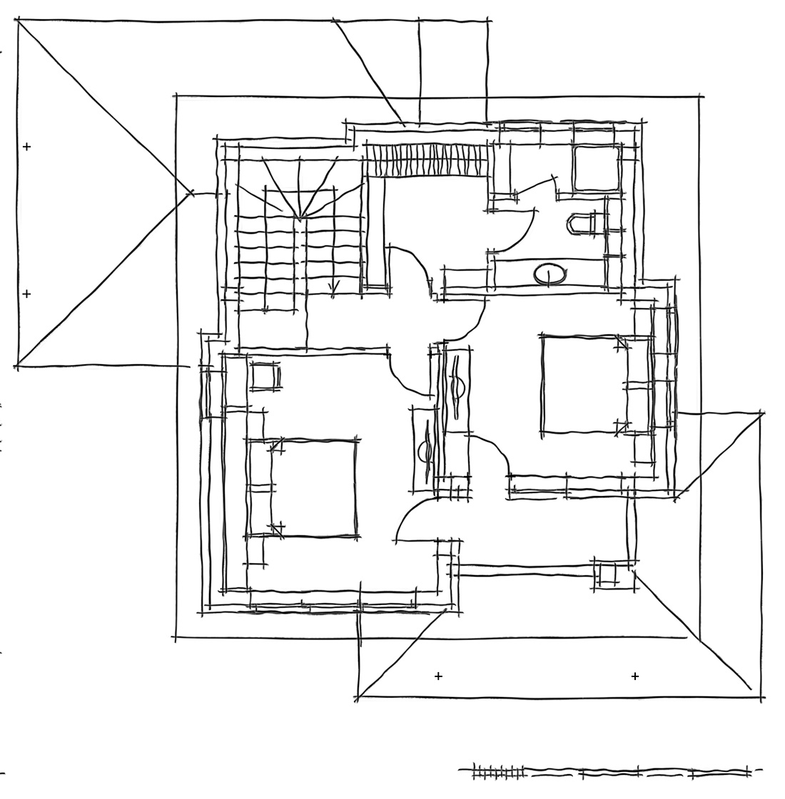 Oregano - A one family house, Built-up area: 118 sq. m., First floor: Built-up area: 52.2 sq. m., Terrace: 18.7 sq. m., Sheds: 15.6 sq. m., Second floor: Built-up area: 60.7 sq. m., Terrace: 4.5 sq. m.